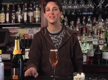 champagne cocktail recipes Rachel Maddow