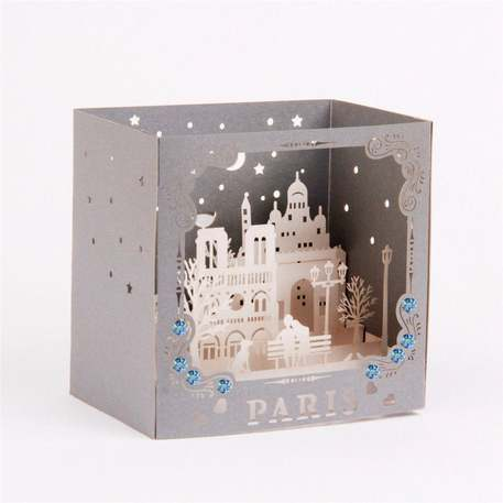 pop-up Paris cut-out card
