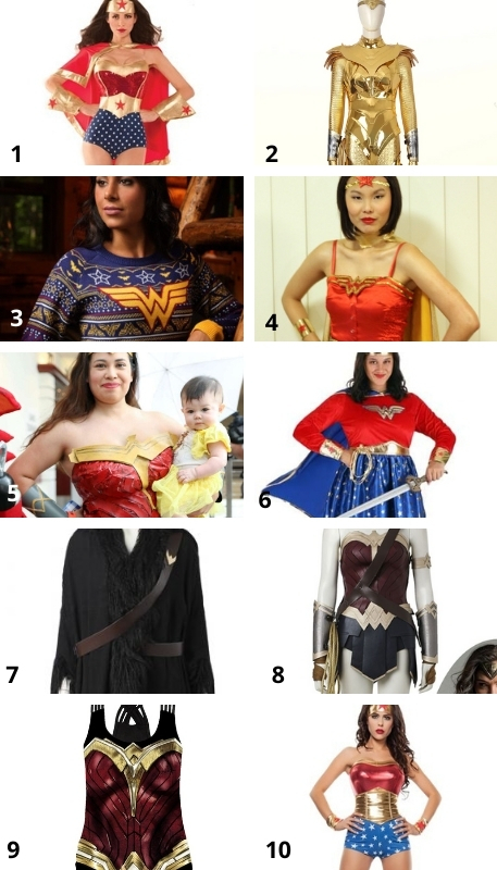 Wonder Woman Costumes you can choose
