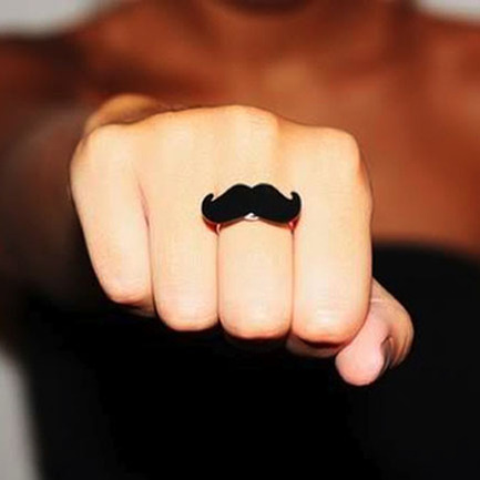 Make a Mustache Ring from Recycled Materials