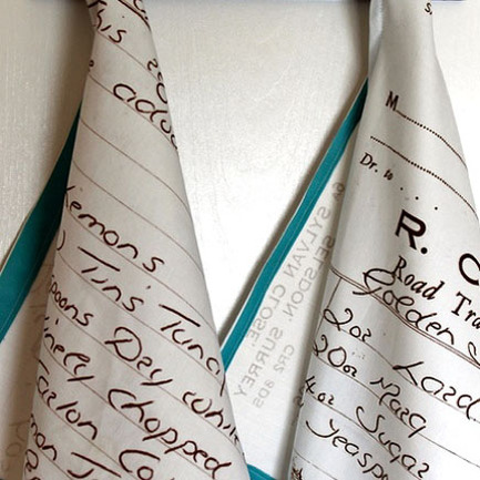 Writing Crafts — Custom Recipe Tea Towels