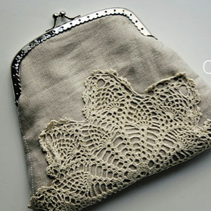 Making Purses from Doilies
