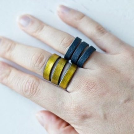 DIY Jewelry: Easy Leather Rings