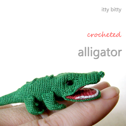 Itty Bitty Crocheted Alligator
