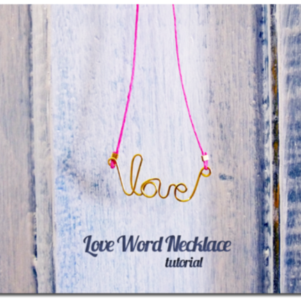 Love Wire Word Necklace