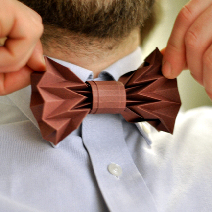 DIY Wedding: Origami Bow Tie