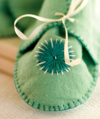 Felt Baby Booties with Stars