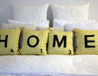 A Pillow Inspired by Scrabble