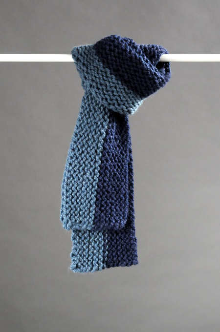 Knit A Quick And Easy Sideways Scarf Free Pattern Craftfoxes
