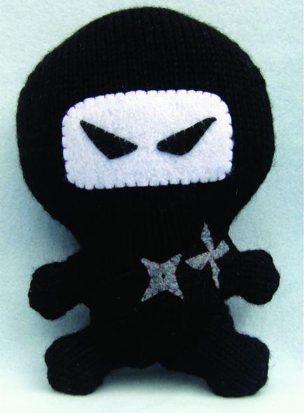 Ninja Amigurumi Free Pattern : Ninja Amigurumi (Free Knitting Pattern) - Craftfoxes