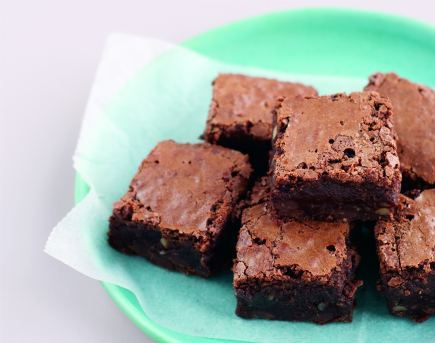 Double-Chocolate Gluten Free Brownies with Walnuts