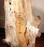 Romantic Woodburn Carved Driftwood for Anniversary