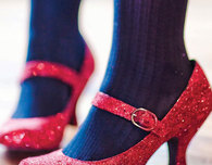 Channel DIY Dorothy — Glitter-Embellished Ruby Slippers