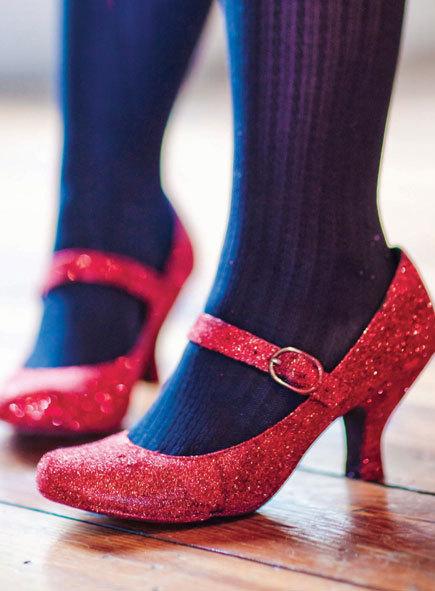 Channel DIY Dorothy — Glitter-Embellished Ruby Slippers
