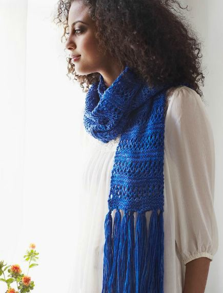 Lace Stripe Scarf (Free Knitting Pattern)