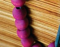 Blackberry Dyed Bead Necklace