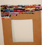 Picture Frame Made with Magazine Clippings