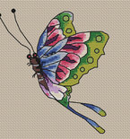 Ed Hardy Rainbow Butterfly Needlepoint Pattern
