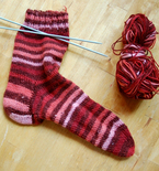Beginner's Knit Sock (Free Pattern)