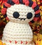 Crocheted Day of the Dead Skeleton (Free Amigurumi Pattern)