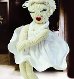 Knitted Marilyn Monroe Doll (Free Pattern)