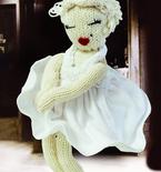Knitted Marilyn Monroe Doll (Free Pattern)
