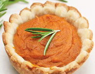 Sweet Potato Mini Pies with Nutmeg