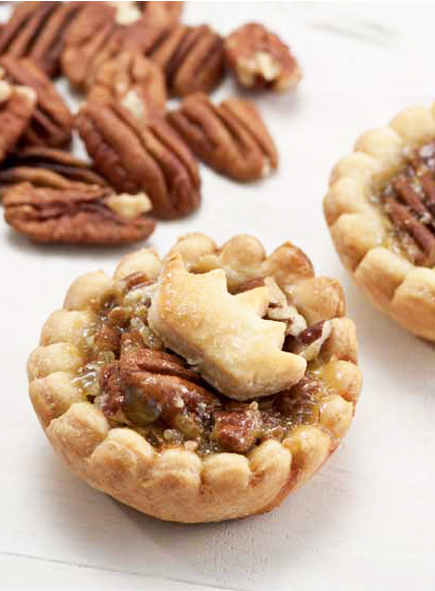 Pecan Mini Pies with Bourbon