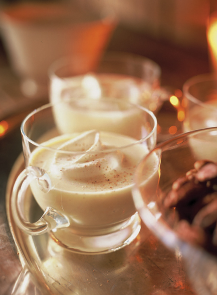 Eggnog with Orange and Lemon Zest