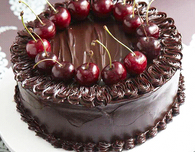 Chocolate Cake with Port-Soaked Cherries