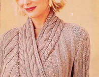 Wrapped Cardigan from Vogue Knitting (Free Pattern)