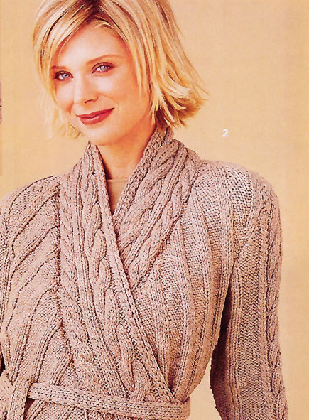 Wrapped Cardigan From Vogue Knitting Free Pattern Craftfoxes