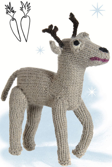 Knitted Reindeer Toy Doll Free Pattern Craftfoxes