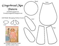 Paper Gingerbread Man Piecing Template