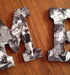Decoupage Wood Letters for Wall Art