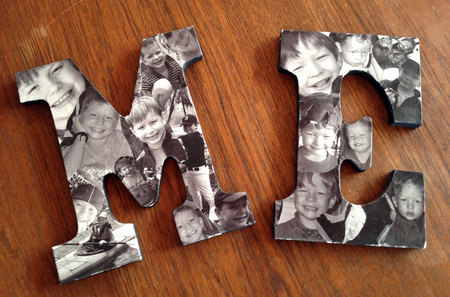 Decoupage Wooden Letters Decoupage Wood Letters For
