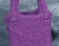 Child's Felted, Knitted Purse (Free Pattern)