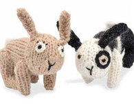 Knitted Rabbit Dolls (Free Pattern)