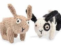 Knitted Rabbit Dolls (Free Pattern)