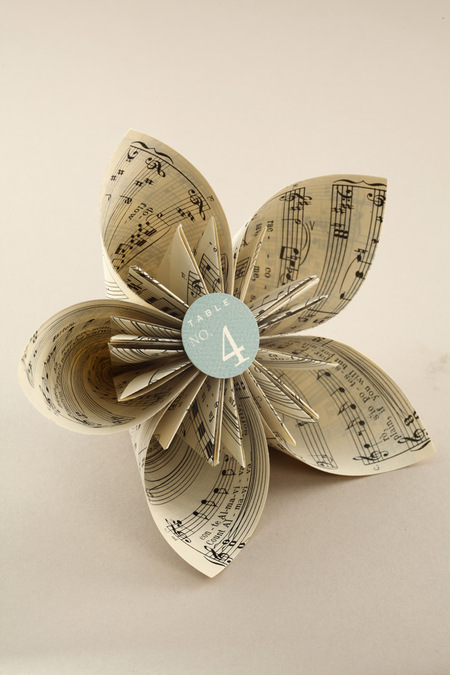 Book Page Origami Kusudama Flower