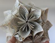 Book Page Kusudama Sphere