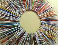 Book Page Starburst Wall Art