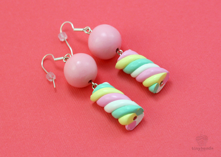 Polymer Clay Marshmallow Earrings