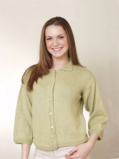 Ladies Cardigan Sweater with Alpaca Wool (Free Pattern)
