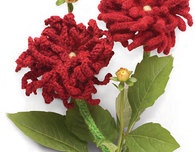 Knitted Dahlia Flower (Free Pattern)