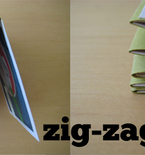 Mini Scrapbook Album with Zig-Zag Spine