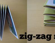 Mini Scrapbook Album with Zig-Zag Spine