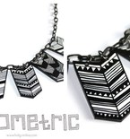 Geometric plastic necklace