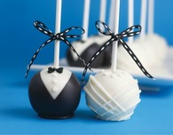 DIY Weddings — Bride & Groom Cake Pops