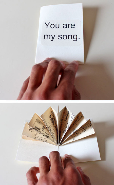 Old Book Crafts — A Music Fan Pop-Up Card